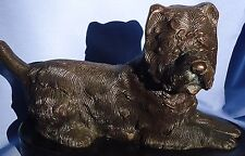BRONZE WEST HIGHLAND CAIRN TERRIER 12""