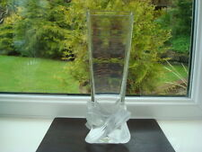 Lalique Lucca Vase Designed by Marie Claude Lalique 1st Quality
