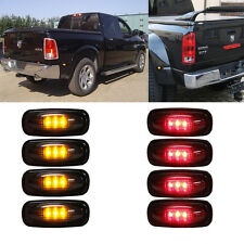 8PCS Smoked Lens LED Side Fender Bed Marker Lights FOR 2003-2009 DODGE RAM 3500