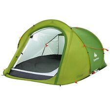 QUECHUA 2 SECONDS EASY POP UP TENT - 2 MEN FESTIVAL HIKING CAMPING PITCH - GREEN