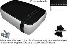WHITE & BLACK CUSTOM FITS KINROAD XT 125 16 REAR LEATHER SEAT COVER ONLY