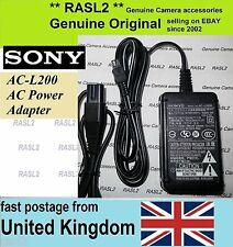 Original SONY POWER Adapter AC-L200 Cybershot DSC-HX1 DSC-HX100V DSC-HX200V