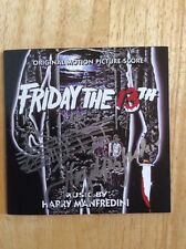SIGNED - Harry Manfredini Friday the 13th [Original Motion Picture Score] CD Pic