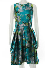 Carmen Marc Valvo Multicolor Impressionist Dress Size 8 New $595 10185854