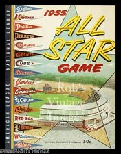 Baseball  All-Star Game Program Poster Art Milwaukee Braves 1955 MLB Vintage