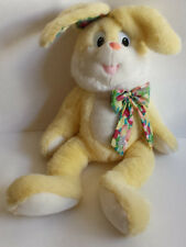 Sugar Loaf Plush Easter Bunny Stuffed Rabbit Animal Yellow Fabric Ears Vintage
