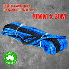Dyneema SK75 Synthetic Winch Rope, Cable 10mm x 30m, Softeye, 4WD Boat Recovery