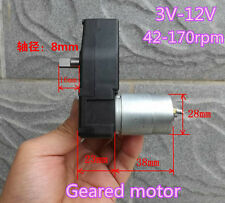 DC12V Small Gear motor Reduction Motor Slow speed 8mm shaft