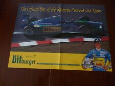BITBURGER OFFICIAL BEER BENETTON MICHAEL SCHUMACHER AUTOSPORT POSTER