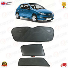 PEUGEOT 206 HB SUNSHADE SET / SUN VISOR SETS 3 WINDOWS / 3 PCS 2006 TO 2010