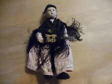 lovely small Lenci friend doll holding guitar