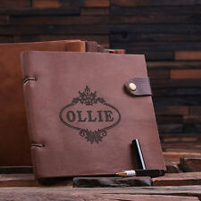 Personalized Leather Journal Travel Diary & Sketchbook, Great for the Artist