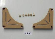Pair of Beige table stowage brackets for caravan motorhome boat TBT1