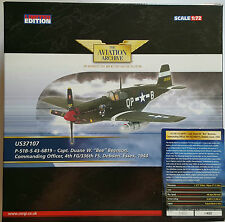 "Corgi Aviation P-51B D ""Bee"" Beenson US37107 US37107 Certificate No 1400 of 1400"