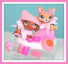 ❤️Littlest Pet Shop LPS Dachshund 640 Corgi 639 HALEY & HANNA Accessories LOT❤️