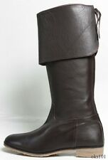 new TAPEET by VICINI ZANOTTI black leather over-the-knee FLAT TALL BOOTS 41 11