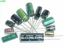 9Value 90pcs 6.3V Radial Electrolytic Capacitor Assortment assorted Kit All bran