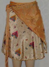 Fun & Flirty Silk Double Layer Reversible Magic Wrap Skirt Free Size Free Ship