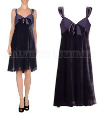 ARMANI COLLEZIONI BY GIORGIO ARMANI DRESS PURPLE VELVET BOW DETAIL IT 46 US 10