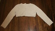 Girls Grey Knit Long Sleeve Button Shrug Bolero Cardigan Top H&M Age 2-3-4 Years