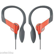 Red 3.5mm Clip Sports Running Earhook Earbud Headphones MIB for MP3 Player