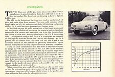 1956 VOLKSWAGEN KARMANN-GHIA VW  ~  RARE ORIGINAL NEW CAR PREVIEW ARTICLE / AD