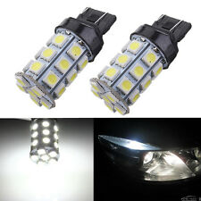 2x T20 7443 27 SMD LED Dual Filament Brake Stop Tail Light Bulb Globe 12v WHITE