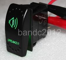 SPEAKER ON/OFF Rocker Switch 5P SPST Green Led Lamp 12V/20A 24V/10A for Boat Car