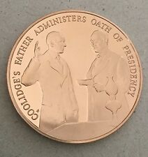 Calvin Coolidge 30th President Take Oath Of Office Coin Medal
