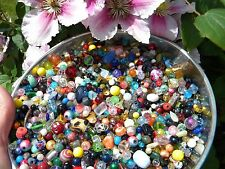 NEW Glass 6/oz Everything MIX 6-15mm MULTI- COLOR MIXED LOOSE BEADS LOT