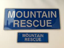 Encapsulated reflective badge MOUNTAIN RESCUE 250mm Set sew on slide in