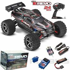 Traxxas 71054-1 E Revo 1/16 4WD Brushed Truck Black RTR w/ TQ Radio / iD Battery