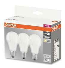 3er-Pack Osram LED BASE A75 E27 10.5W 2700K Warmweiß LED Lampe = 75W Glühbirne