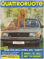QUATTRORUOTE 11/1978 BMW 323i – RENAULT 18 GTL