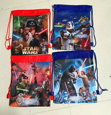 Lot 12pcs Star Wars Environmental protection Bags Draw string backpack kids gift