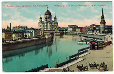 View to Cathedral Christ The Saviour, Moscow, Russia, 1909 to Belgium