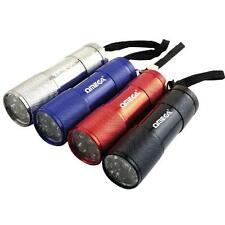Omega 25019 LED Mini Torch Battery Powered Metal Case Flash Light Assorted New