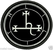 SIGIL OF LILITH EMBROIDER PATCH OCCULTISM LUCIFER SATAN PAGANISM Metal Negro