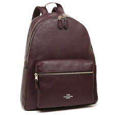 NWT Coach Pebble Leather Charlie Backpack Oxblood F 38288 $395