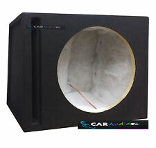 "Slot Ported Black Carpeted Sub woofer MDF 12"" Inch 30cm Box Bass Enclosure new!!"