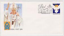 (ICF185) 1986 AU Cover 36c Papal visit Special cancel (P)