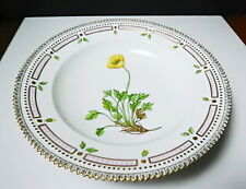 "Royal Copenhagen FLORA DANICA 8 3/4"" Rimmed Soup Bowl, Mint"
