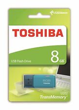 8GB TOSHIBA U202 USB 2.0 : AQUA : (BRAND NEW & FACTORY SEALED)