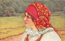 B64660 Czecho Slovak national costumes  czech slovakia types folklore