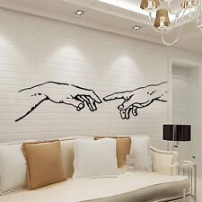 Michelangelo Adam hands wall sticker apple living room kicthen decal art vinyl
