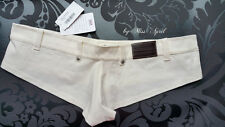 556 Denim Shorts MEDIUM from 2012! BNWT Wicked Weasel NUOVO discontinued Ivory