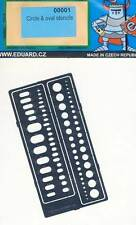 Eduard Kleine Ovale Abdeckungen Kreise Gravierschablone Schablonen 1:87/72/48/35