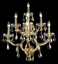 New! Crystal Wall Sconce Maria Theresa Gold 7 Lights