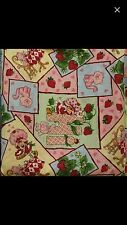 """Strawberry Shortcake Vintage Fabric New Cotton Sewing Quilt 30"""" Rare"""
