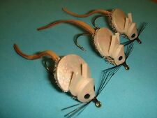 FLY FISHING FLIES - Natural DEER HAIR LOCO MOUSE size #6 (3 ea.)